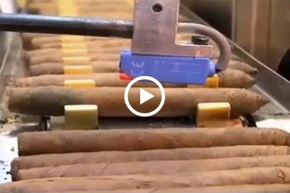 Proceso de producción de un cigarro mecanizado