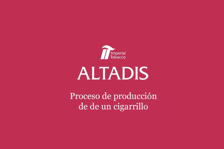 Proceso de producción de un cigarrillo